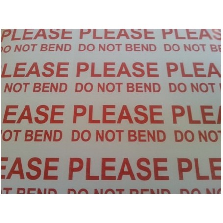 Please Do Not Bend Labels on A4 sheets