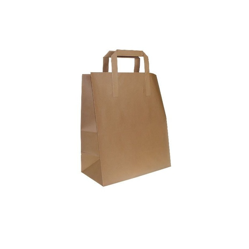 Paper Bags with Flat Handle - 180x230mm + 90mm