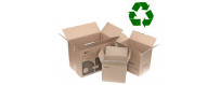 once used boxes recycle